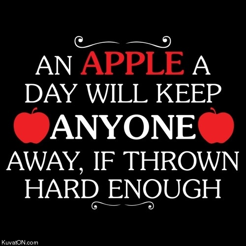 An Apple a Day Will Keep Anyone Away | Read me... | Pinterest
