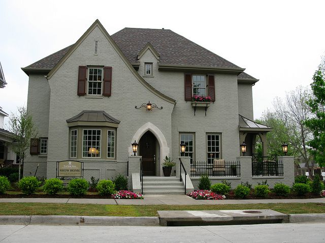 French Country Painted Brick Houses Pinterest