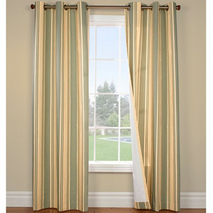 jcpenney - Weathermate Broadstripe Grommet-Top Thermal Cotton Curtain ...