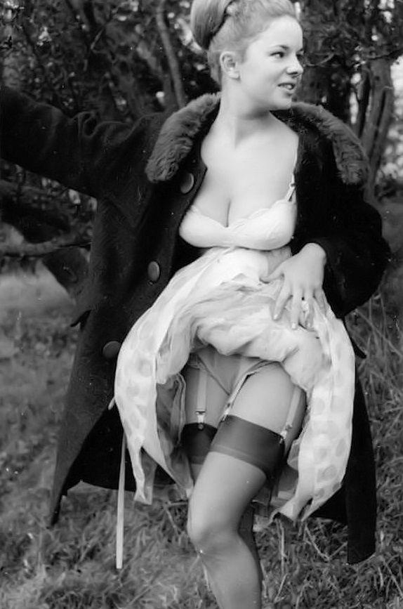Vintage stockings skirt panties