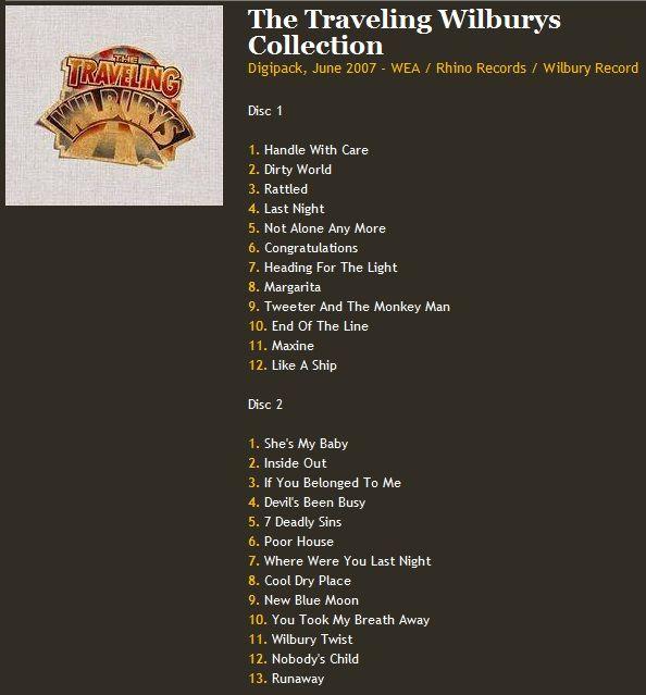 music vinyl traveling wilburys collection