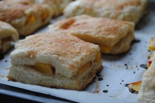 peach cobbler scones | Indulge | Pinterest
