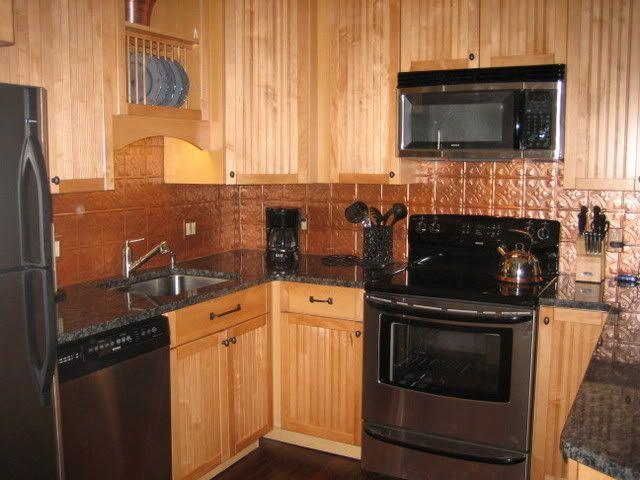 Faux Tin Ceiling Tile Backsplash Kitchen Remodeling Ideas Pintere