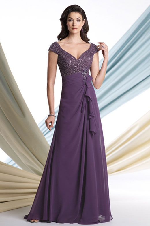 regal purple mother of bride dresses
