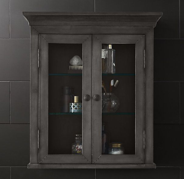 knockoff of this gorgeous wall cabinet from restoration hardware