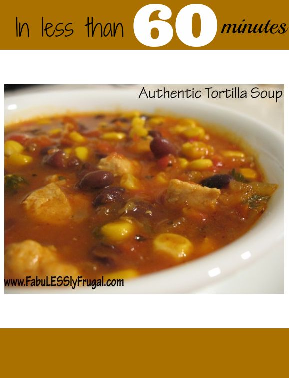 This Tortilla soup is the real deal. Fresh, authentic, and easy to ...