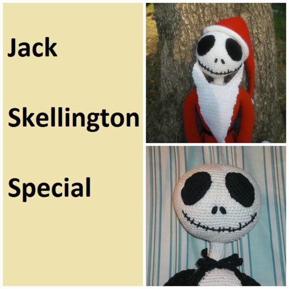 Free Crochet Pattern Of Jack Skellington : Jack Skellington Crochet PATTERN Special