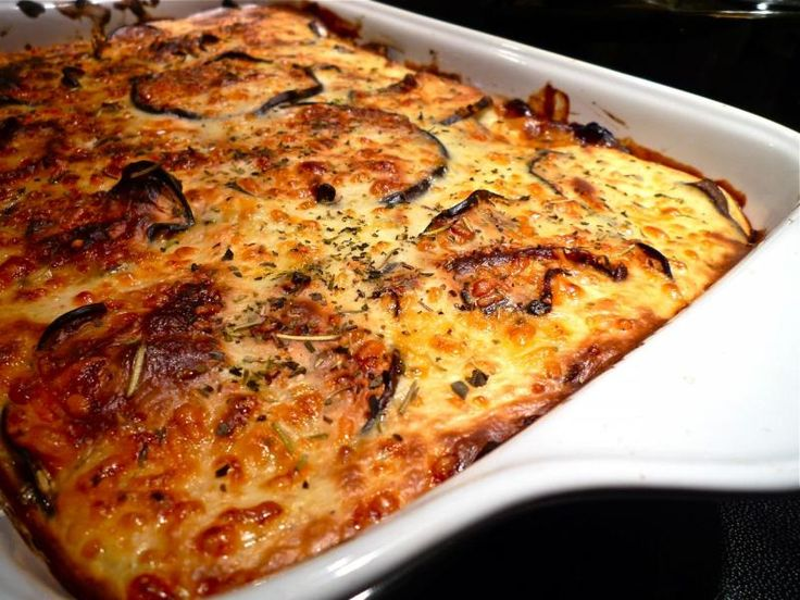 Vegetable Moussaka | Vegetarian recipes | Pinterest