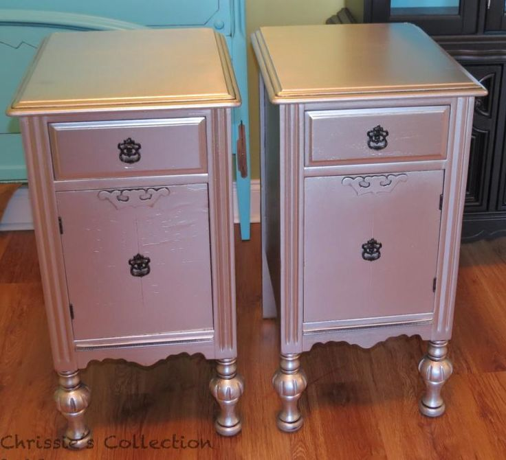 Metallic Painted Furniture Pinterest Crafts