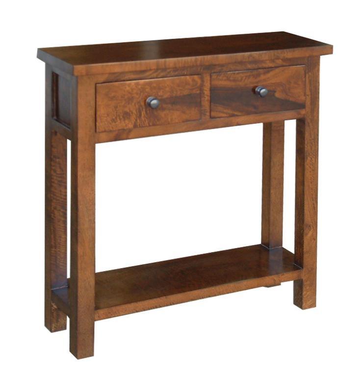 Mango wood console table akita walnut