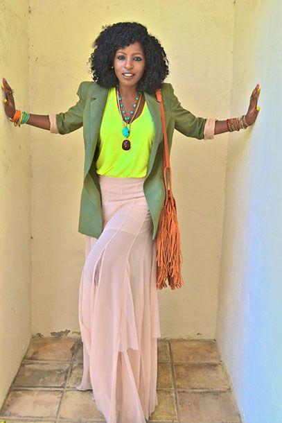 Folake Kuye Huntoon, shot in Beverly Hills for StylePantry, via Chictopia.
