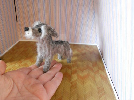 Wolfhound/deerhound needle felted dog