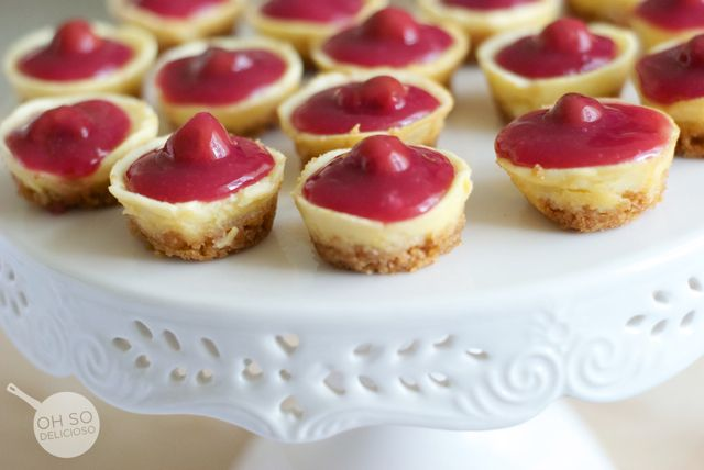 Mini Cherry Cheesecake Bites Recipe — Dishmaps