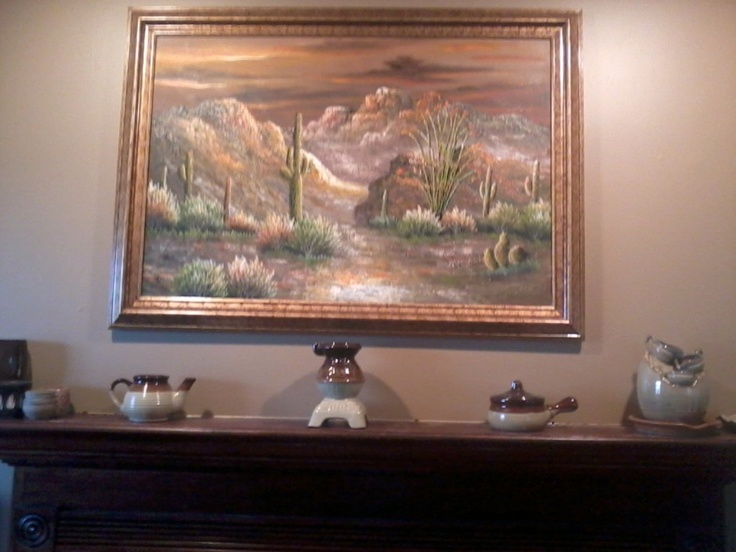 The painting over my fireplace southwest inspirations for Fireplaces southwest