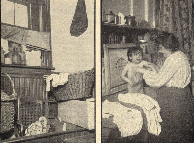 a child getting ready for a bath early 1900 39 s new york tenement life pinterest. Black Bedroom Furniture Sets. Home Design Ideas