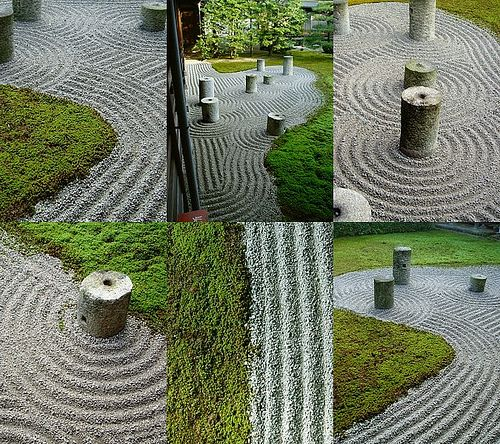 Tofukuji temple gravel rakings composition, Kyoto (Mirei Shigemori)