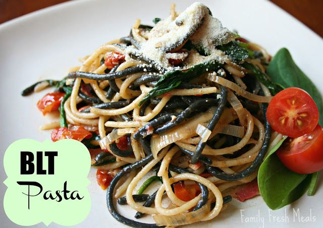 BLT Pasta (w/ vegetarian option)   Recipe