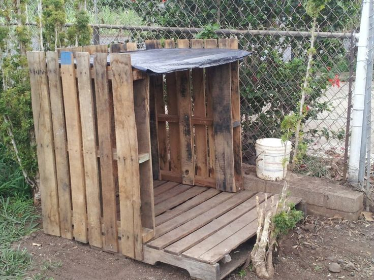 Wood working pallet dog house plans - How to build a dog house with pallets ...