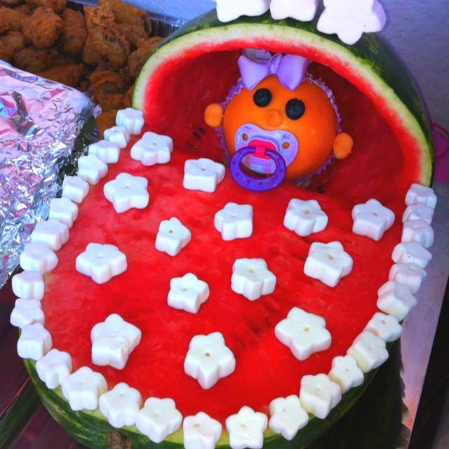 baby shower watermelon sara 39 s baby shower pinterest
