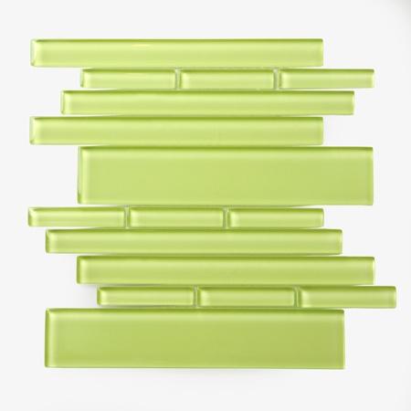 love the green glass backsplash tile for the home pinterest
