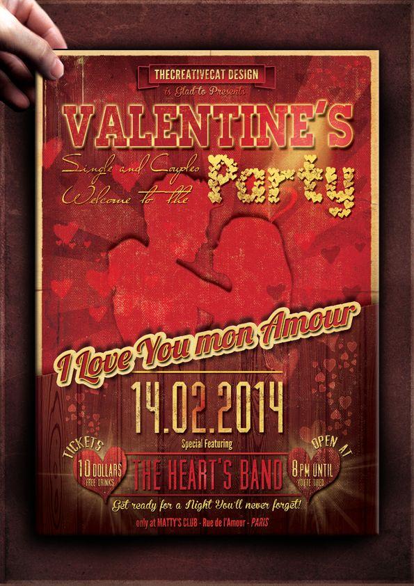 valentine flyer template download