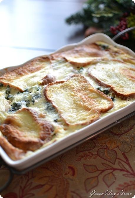 Spinach & Fontina Strata | Spring | Pinterest