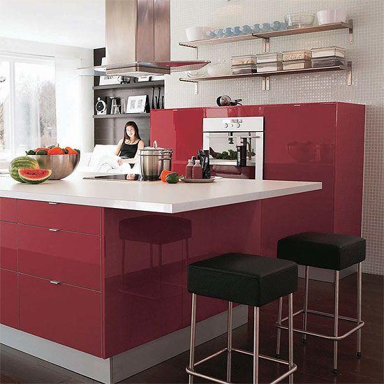 Red High Gloss Kitchen: Ikea Kitchen Abstrakt Red High Gloss