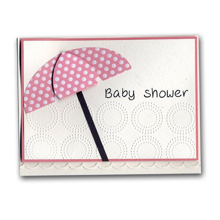 baby shower diecut umbrella card baby ideas pinterest