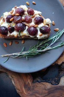 Grape focaccia w/ pine nuts, rosemary + balsamic vinegar