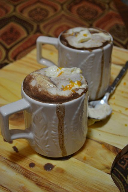 Italian Hot Chocolate made with Bittersweet Chocolate with Orange ...
