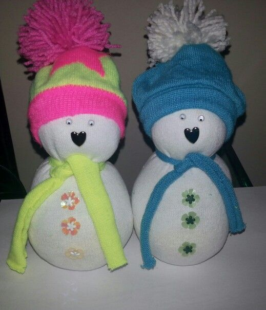 Sock snowmen | Crafts | Pinterest