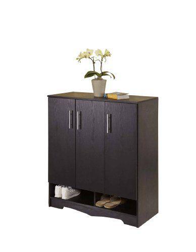 Enitial Lab Westwood 7 Shelf Shoe Cabinet, Black Enitial Lab http
