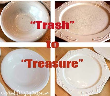 """Thrift store """"Trash to Treasure""""…with a little help from my {Bar Keepers} Friend! :-)"""