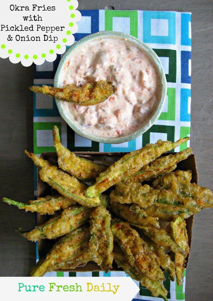 PMED Okra Fries | food.food.food | Pinterest
