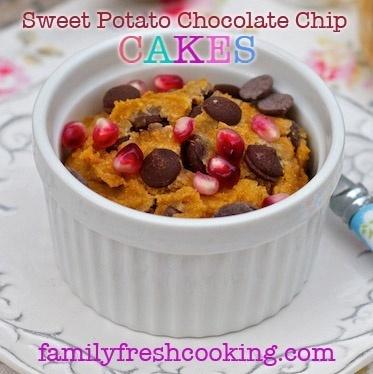 Gluten free Sweet Potato Chocolate Chip Jar Cakes recipe on FamilyFreshCookin... Marla Meridith Photography #dessert #diet #design #party #food autumnrain8 great-eats