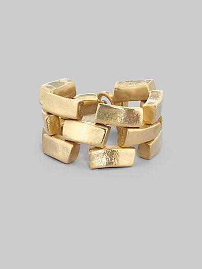 Vaubel - Brick Link Bracelet - Saks.com   Jewels   Pinterest