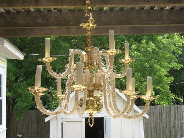 Outdoor chandelier diy inspiration pinterest - Outdoor chandelier diy ...