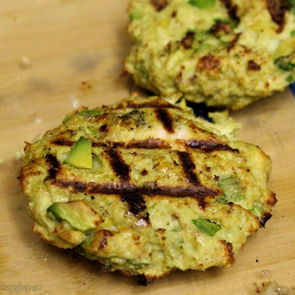 Chicken-Avocado Burgers via @Jess | Hungry Harps