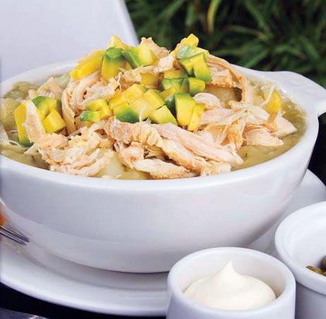 Ajiaco bogotano. The most delicious Colombian chicken and potato soup.