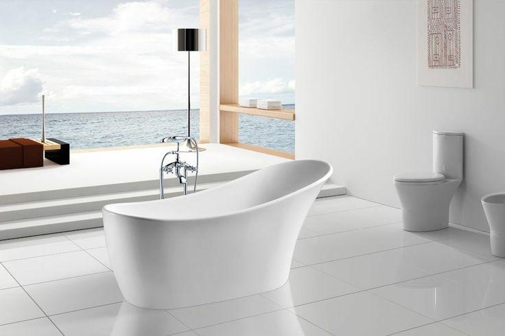 New Modern Pedestal Bathtub Soaking Tub SPA Clawfoot Indoor Bath