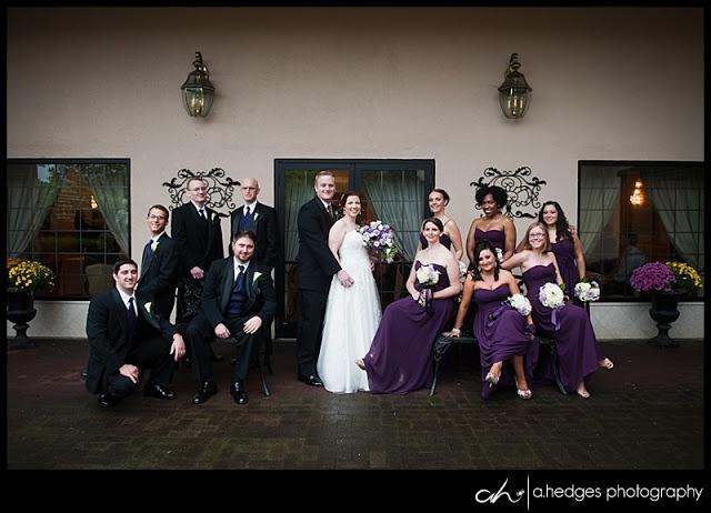 Deep Purple Wedding Dresses : Wedding party pose deep purple dresses a hedges photography phot