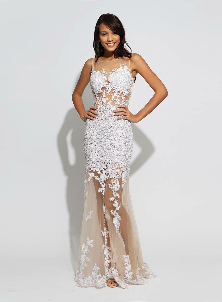 White Lace Prom Dresses Jovani - Holiday Dresses
