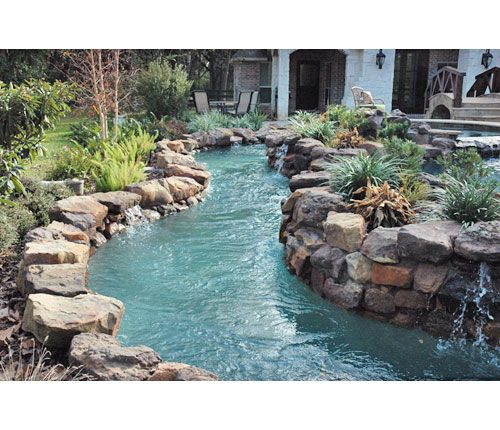 Building A Lazy River In Backyard :  the labor is done ~ My own personal lazy river in my backyard