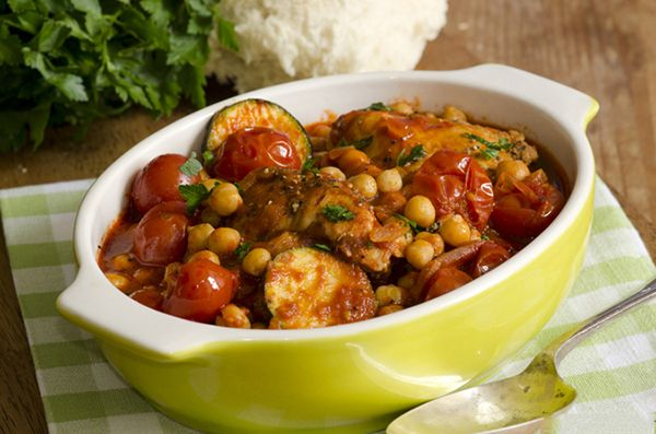 Slow Cooker Moroccan Chicken with Chickpeas   Recipe
