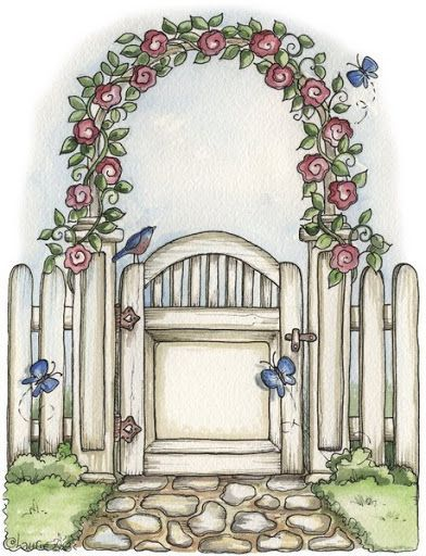 garden gate clipart - photo #1