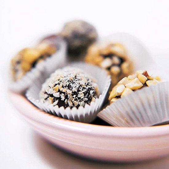 Hazelnut Truffles - Chocolate-hazelnut spread gives these truffles ...