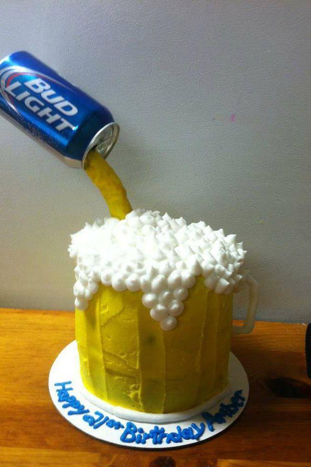 Beer Glass Cake Design : Beer mug cake Baking ideas Pinterest