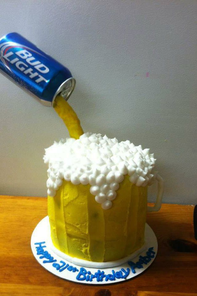 Beer mug cake Baking ideas Pinterest