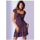 Dark Purple Jersey Dress by Venus
