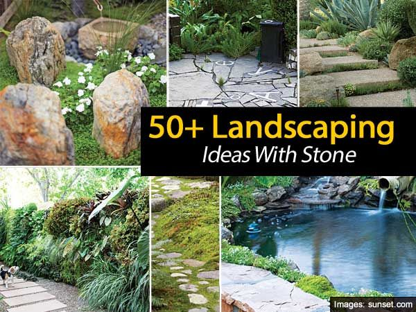 50 landscaping ideas with stone garden dreams pinterest for Stone landscaping ideas